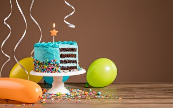 colorful,воздушные шары,decoration,cake,happy birthday,день рождения,celebration,candles,ballones,торт