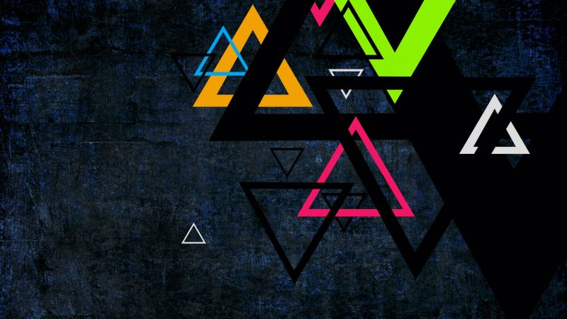 triangles,colorful