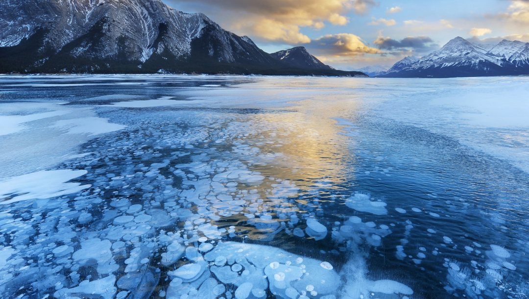 icy,water,winter,landscape