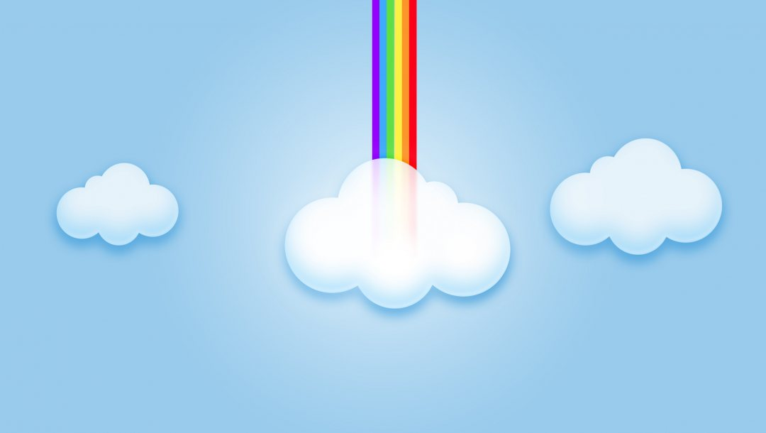 rainbow,Abstract,clouds