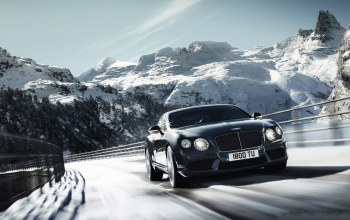 roads,continental,bentley,snowy,mountain