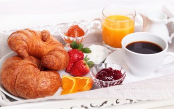 кофе,croissants,сок,круасаны,food,juice,coffee