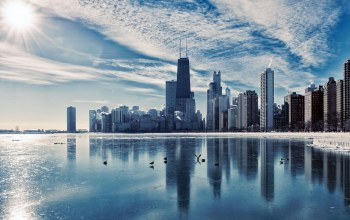 chicago,winter,Cityscape