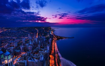 states,chicago,united,Sunset