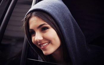 girl,grey,Window,victoria justice,cute,smile,hood
