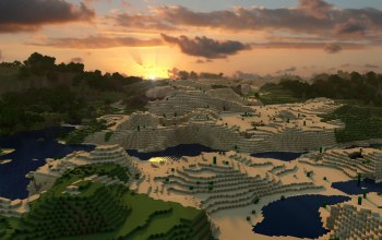 sunrise,Minecraft