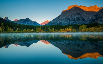 reflection,landscape,canada
