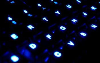 blue,glowing,keyboard