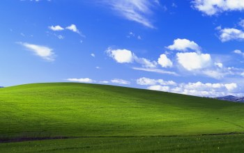Windows XP,холм,Облака,microsoft,безмятежность,калифорния