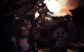 трупы,магила,reaper of souls,demon hunter,diablo 3: reaper of souls,diablo 3,арбалет,кладбище