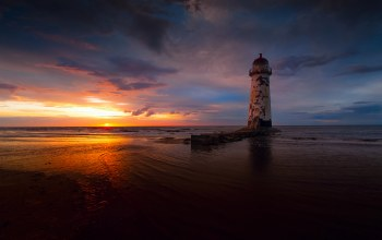 Sunset,lighthouse