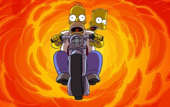motorcycle,and,homer,bart