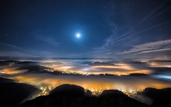 landscape,misty,exposure,Long,starry