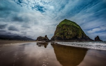 cannon,beach,rock,haystack