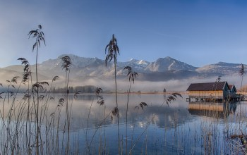 Bavaria,eichsee,Germany,fog,morning