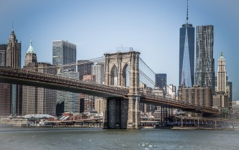 сша,bridge,здания,бруклин,brooklyn,манхеттен,new york,manhattan