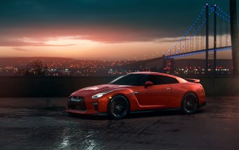view,car,r35,Sunset,Red