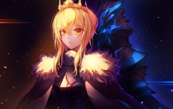 корона,fate,saber,artoria pendragon,девушки,inho song,fate/grand order