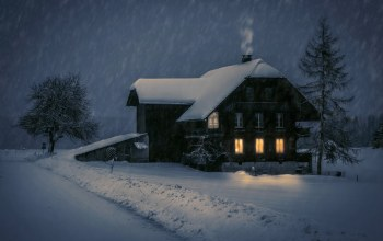 Romantic Winter Evening,ночь