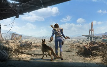 dogs,girls,Road,Fallout 4,nora