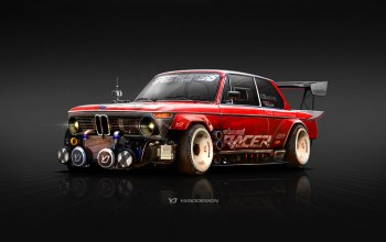 передок,Bmw,1974,1974 BMW 2002,2002,BMW 2002,рисунок,Yasid Oozeear,Red