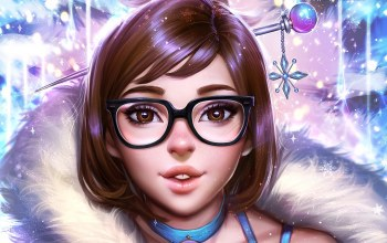 Happy new year,Mei-Ling Zhou,Mei,overwatch,2017,очки