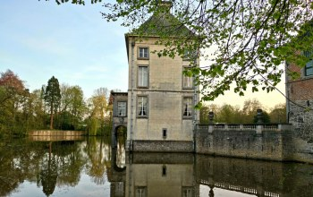 Château,Feluy,construction,Nivelles,renaissance,castel,Arquennes,Seneffe,style,old,french,Medieval,Pond,Middle age,architecture,beautiful,house,belgium,landscape,Hainaut,Architectural