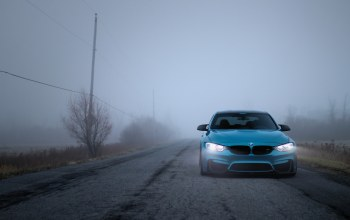 blue,Bmw,fog,f80,autumn,light