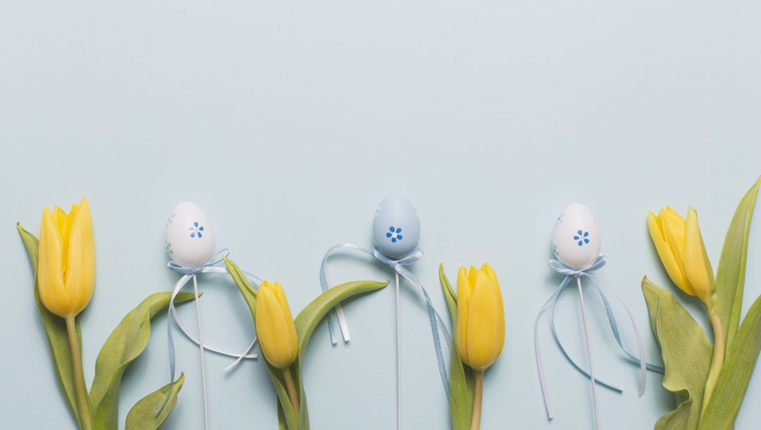 tulips,eggs,blue,Декор,Easter,flower