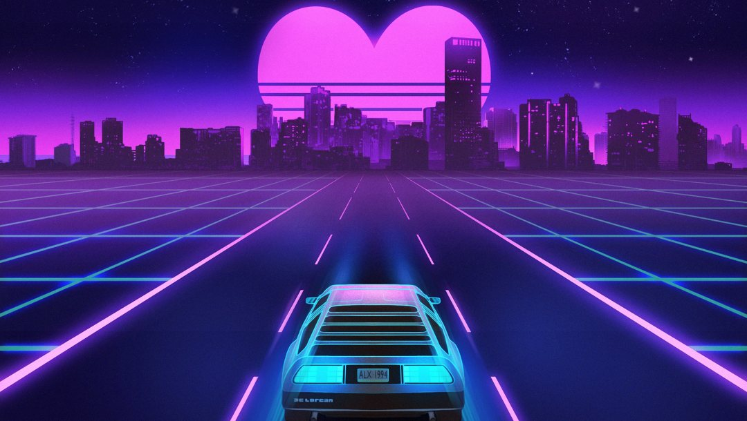 Синти,dmc-12,Synth,сердце,delorean,synthwave,electronic,Синти-поп,delorean dmc-12,Synth pop,Retrowave,музыка,неон,ночь,Darkwave,synthpop