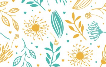 цветы,blue,background,yellow,Abstract,Floral