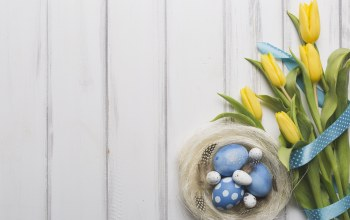 Весна,wood,Bouquet,eggs,Декор,лента,Easter