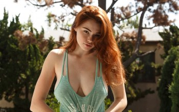 look,redhaired,girl,freckles,Sabrina Lynn,lips