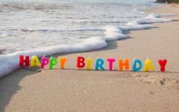 candle,день рождения,sand,Colours,beach,celebration,happy birthday,decoration,colorful