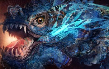 Jaws,artwork,digital art,eye,fantasy,dragon,Abstract,colorful,colors,Psychedelic,texture
