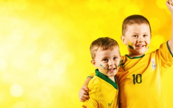 brazil,Fans,smile,wallpaper,kids,happy,football