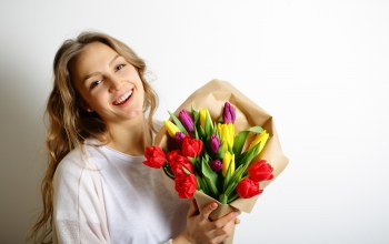 tulips,colorful,gift,цветы