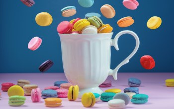 colorful,coffee,french,sweet,Macaron,кружка,сладкое,macaroon,Макаруны,cup,пирожные