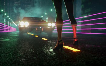 electronic,Синти,неон,ноги,Darkwave,synthwave,музыка,JohnLeePee,synthpop,туфли,Synth pop,Синти-поп,ночь,фары,Synth,свет,Retrowave