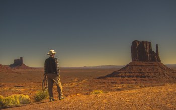 cowboy,Monument valley,desert,dry
