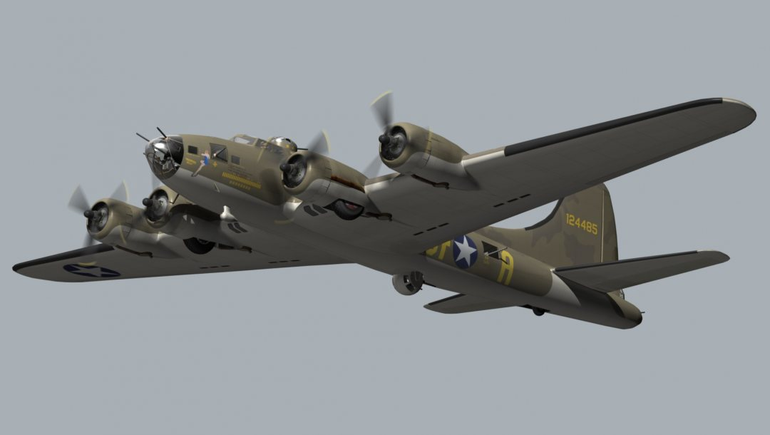 Blender,flying fortress,B17