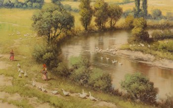 Hungarian painter,Riverscape,венгерский живописец,Речной Пейзаж,Laszlo Neogrady,Ласло Неогради