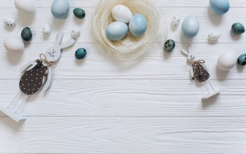tender,яйца,голубые,wood,blue,happy,spring,White,bunny,eggs,decoration,Easter