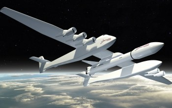 Ракета,Stratolaunch Model 351,Облака,Самолёт,Model 351,земля,Самолёт,Американский самолёт-носитель,Stratolaunch,Stratolaunch Model,Scaled Composites Stratolaunch Model 351,Самолет носитель,Двухфюзеляжный,Самолет носитель,Scaled Composites,Самолёт-носитель,351,Двухфюзеляжная конструкция