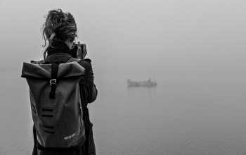 girl,adventure,mist,fog,boat,traveling,photo