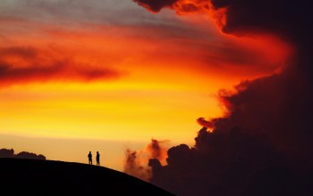 hill,Sunset,dusk,Twilight,silhouettes,breathless,cloud