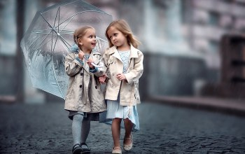 bridge,umbrella,мостовая,дети,girlfriend,зонт,подружки,children,girls