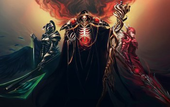 skeleton,scepter,helmet,fantasy,spear,warriors,sword,Magician,red eyes,cape,dark,digital art,Skull,Horns,armor,fantasy art,hood,artwork