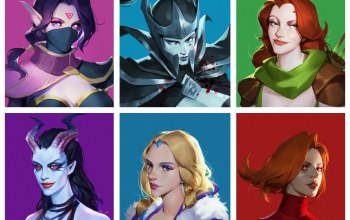 Windranger,Queen of pain,girls,crystal maiden,templar assassin,phantom assassin,Zhong Yang