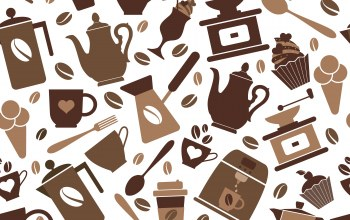 vector,кофе,seamless pattern,background,coffee